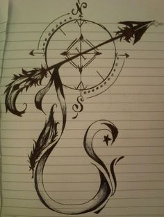 My Compass by Decay-Forever on DeviantArt Future Tattoos, New Tattoos, Body Art Tattoos, Cool Tattoos, Tatoos, Compass Art, Compass Tattoo, Arrow Feather, Heart With Arrow