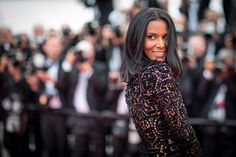 Shy'm in this Julien Fournie dress at Cannes Film Festival 2018.