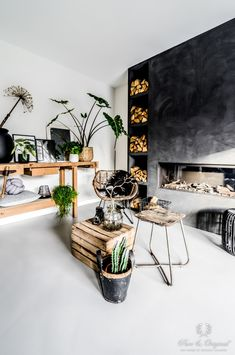 Marrakech Walls in de kleur Slate Grey: Muren door Pure & Original Living Roon, Home Living Room, Living Room Decor, Living Spaces, Interior Design Career, Showroom Design, Interior Design Living Room, Mountain House Decor, Family Dining Rooms