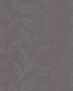 Sparkle Leaf Charcoal Grey wallpaper by Albany