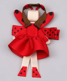 Take a look at this Red Ladybug Girl Clip by Buttercream Babe on #zulily today!