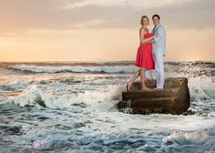 This is Steps Beach in Rincon, Puerto Rico. It is an iconic beach named for the large concrete stairs that are just at the edge of the water. This is a great beach for an engagement photography session.  Rincon Images Wedding photographer Puerto Rico www.rinconimages.com