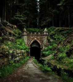 ancient bohemian forest road, czech republic…. by ralph oeschsle