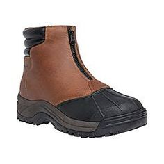 Propet USA Men's Blizzard Mid Zip Brown/Black Boot - Extra Wide Width  Available