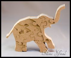 Scrollsaw Workshop: Scroll Saw Standing Elephant Puzzle