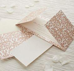 Format: gatefold Vintage Pink and Pearl Fleur De Lys Gatefold Invitation DIY Kit - 10 Pack £19