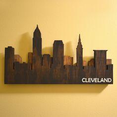 Layered Cleveland Skyline Wall Art by OhioWallArt on Etsy https://www.etsy.com/listing/224921022/layered-cleveland-skyline-wall-art
