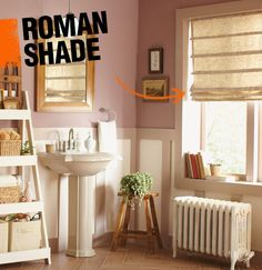 A roman shade is a window treatment that lifts vertically, folding neatly as it is raised, to allow for more or less light to come through the window.