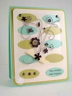 Happy Ovals - Stampin' Up! Demonstrator - Mary Fish, Stampin' Pretty Blog, Stampin' Up! Card Ideas & Tutorials