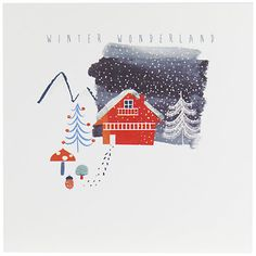 Buy John Lewis Chalet Charity Christmas Cards, Pack of 6, Red Online at johnlewis.com