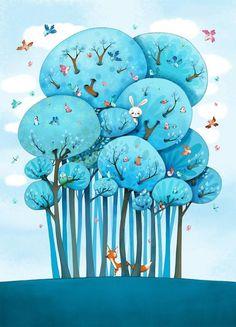 bellasecretgarden: primavera+azul_Emmanuelle+Colin