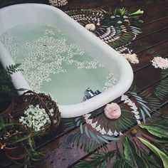 ♀♅☽ Bath Aesthetics #boho #flowers