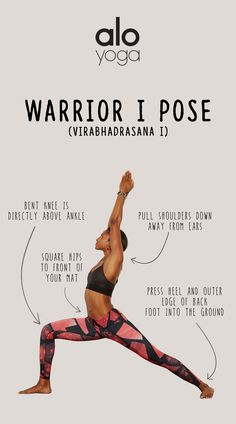 Keep your Warrior I Pose properly aligned with these helpful tips & tricks #aloyoga #beagoddess