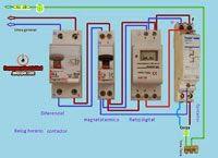 Esquemas eléctricos: reloj horario digital con contactor monofasico esq...