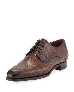 Alligator Oxford Shoe, Brown