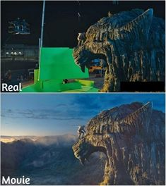 36 Movie Shots Before And After Visual Effects - Wow Gallery Dawn Of The Planet, Planet Of The Apes, Movie Special Effects, Practical Effects, Computer Generated Imagery, Edge Of Tomorrow, Marvel Avengers Movies, Days Of Future Past, Movie Shots