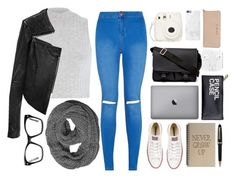 """""""Uni"""" by xxtraceyxx on Polyvore featuring River Island, Linea Pelle, Converse, Spitfire, Givenchy, Native Union, Montblanc and MICHAEL Michael Kors"""