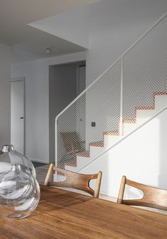 12 Beautiful Staircase Ideas to Make Yours Stand Out - The Trending House Staircase Railings, Curved Staircase, Staircase Design, Bannister, Home Room Design, Home Interior Design, Interior Architecture, House Design, Interior Stairs