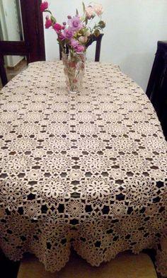 Crochet Lace Edging, Crochet Round, Love Crochet, Vintage Crochet, Crochet Doilies, Hand Crochet, Crochet Table Runner, Crochet Tablecloth, Crotchet Patterns