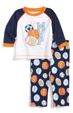 Little Me 'Sports' Two-Piece Pajamas (Baby Boys) available at #Nordstrom