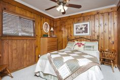 cabin vibe in the bedroom