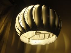 Modern Industrial Upcycled Roof Vent Lamp by AineJack, OldMint on Etsy http://www.etsy.com/shop/OldMint