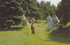 Chief Red Cliff Recreated Micmac Indian Village ROCKY POINT PEI Canada Postcard