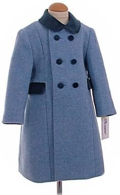 Childs traditional coat in light blue | Girls Traditional Classic ...