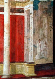 Palatino - Casa di Augusto - scena con palazzi #TuscanyAgriturismoGiratola