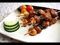 Korean Food: Skewered Chicken (닭 꼬치)