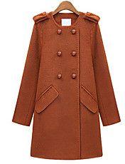 Vrouwen Doubule-breasted Tweed Coat met afnee... – EUR € 35.63
