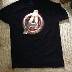 Avengers Tshirt  Black Avengers TShirt, size XL, 100% cotton. Gently worn. Comfy and perfect for a sleep shirt or aired with leggings! Tops