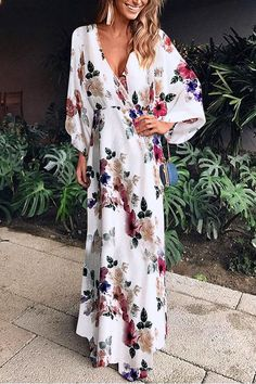 SPECIFICATIONS: Product Name Sexy Fashion Floral Print Maxi Dress maxi dress summer,maxi dress outfit,maxi dress casual, Fashion Star, Fashion Beauty, Fashion Tips, Womens Fashion, Style Fashion, Fashion Trends, Feminine Fashion, Fashion Websites, Fashion Black