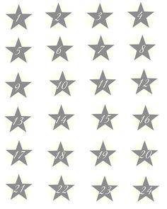 Fundgrube Adventskalender # 2 | SASIBELLA Free printable - stars advent numbers - Advent Calender