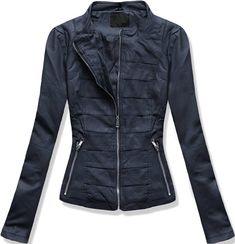 KURTKA RAMONESKA ZE WSTAWKAMI 5318 GRANATOWY Jackets For Women, Women's Jackets, Thor, Motorcycle Jacket, Leather Jacket, Zip, Fashion, Ladies Jackets, Studded Leather Jacket