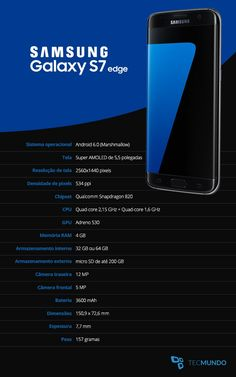 Samsung Galaxy e Samsung Galaxy edge - TecMundo Samsung Galaxy Note 8, Galaxy S7, Quad, Spy Gear, Smartphone, Latest Phones, Mobile Gadgets, Software Online, Operating System