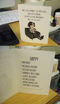 kaxen: Is there any interest for Sherlock greeting cards? I was thinking of getting another batch printed and I don't have enough Sherlockian friends to use them all up myself.