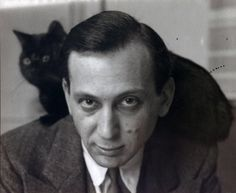 André Kertész, Self-Portrait with Chat Noir, (Variant), 1925
