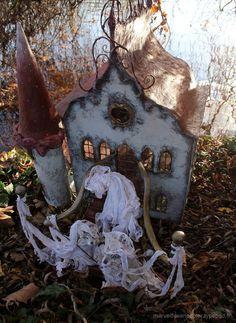 magical paper mache house