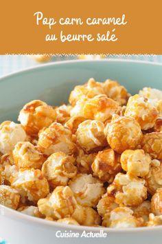 La recette des pop corn caramel au beurre salé #cuisineactuelle #popcorn Cooking Time, Cauliflower, Sweets, Vegetables, Breakfast, Ethnic Recipes, Popcorn, Food, Instagram