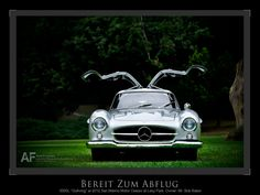 Ready for Flight.    Bob Baker's 300SL Gullwing at the 2012 San Marino Motor Classic Concours