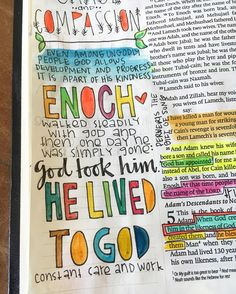 I thought Genesis 5 was going to be a bust...I mean genealogy  but boy was I wrong. Think I'm going to change one of our boys' names to Enoch now. He's my new favorite Bible character. Just a few simple verses which spoke volumes.  I want to live to God instead of living to myself.  #walksteadily #ppabiblejournal #biblejournaling #illustratedfaith #shepaintstruth by pitterpatterart