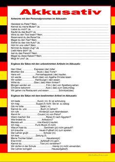 Willkommen auf Deutsch - Akkusativ