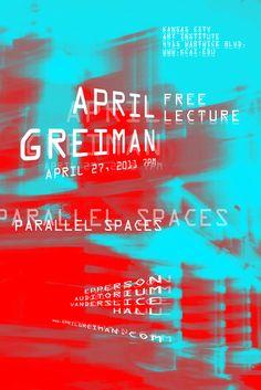 Samantha Mak: April Greiman Lecture Poster: Poster Concepting. @designerwallace