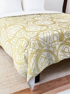 'Mystical White Gold Design' Comforter by Shane Simpson Mystic, Comforters, White Gold, Retro, Bed, Furniture, Design, Home Decor, Creature Comforts