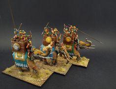 28mm Aventine Miniatures Successor/Seleucid Armoured Elephants with Four Crew