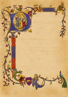 Engaging Medieval Wedding Invitations As An Additional Inspiration To Create Delightful Wedding Invitation Medieval Books, Medieval Manuscript, Medieval Art, Medieval Dragon, Celtic Dragon, Celtic Art, Book Of Kells, Illuminated Letters, Illuminated Manuscript
