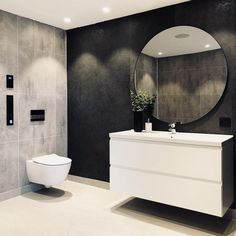 59 amazing bathroom design ideas for you to copy page 22 Diy Bathroom, Bathroom Grey, Modern Bathroom Decor, Bathroom Interior, Small Bathroom, Bathroom Lighting Inspiration, Berry Alloc, Vibeke Design, Ideas