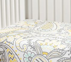 Ana Paisley Crib Fitted Sheet | Pottery Barn Kids