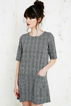 Cooperative Tartan Textured Dress at Urban Outfitters